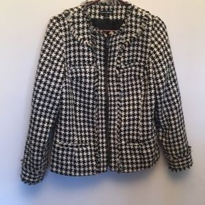 Fashion Bug zip up checkered coat